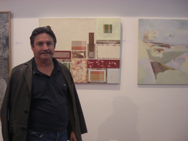 Cosme with the work 'Green Square'