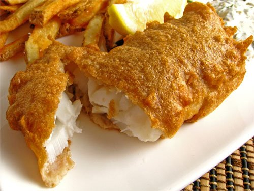 Global cookbook traditional fish and chips english recipe for Fish batter bowl