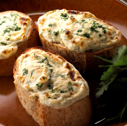 Global CookBook: Garlic Bread with Cheese and fresh Basil