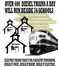 Over 400 Diesel Trains a day will run beside 76 Schools