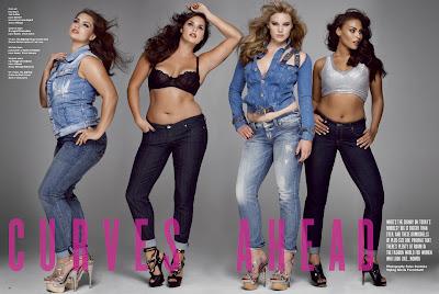 "Big is Beautiful – ""Curves ahead"" par V Magazine"