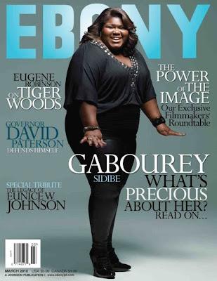 >Gabourey Sidibe en couv' du mag Ebony