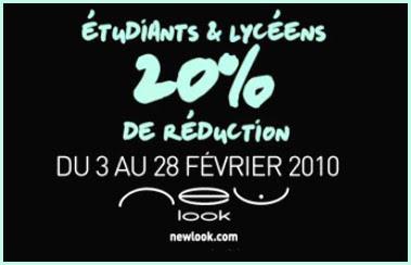 >Bon plan new look pour les étudiants !!!