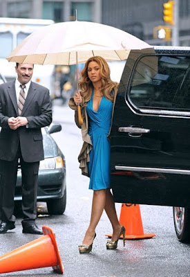 Beyonce in Blue