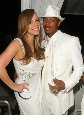 Mariah+and+Nick Diddy & Ashton Kutcher's All White Affair