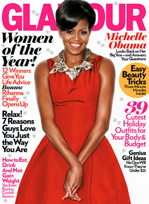 Michelle Obama en couv' de Glamour USA