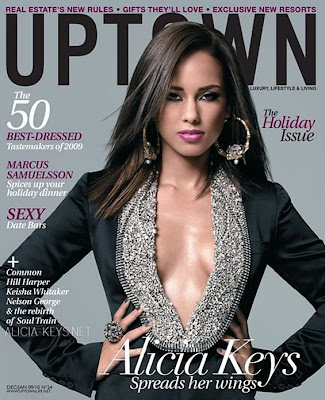 Alicia Keys en couv' d'Uptown mag