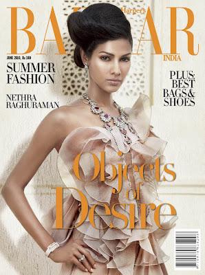 >Nethra Raghuraman en couv'd Harper's Bazaar India