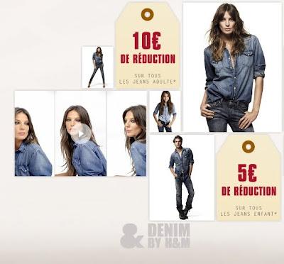 >10€ de réduction sur les jeans H&M