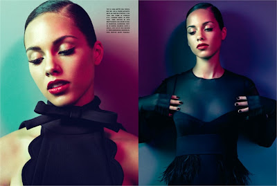 Alicia Key pose pour Vogue Italia