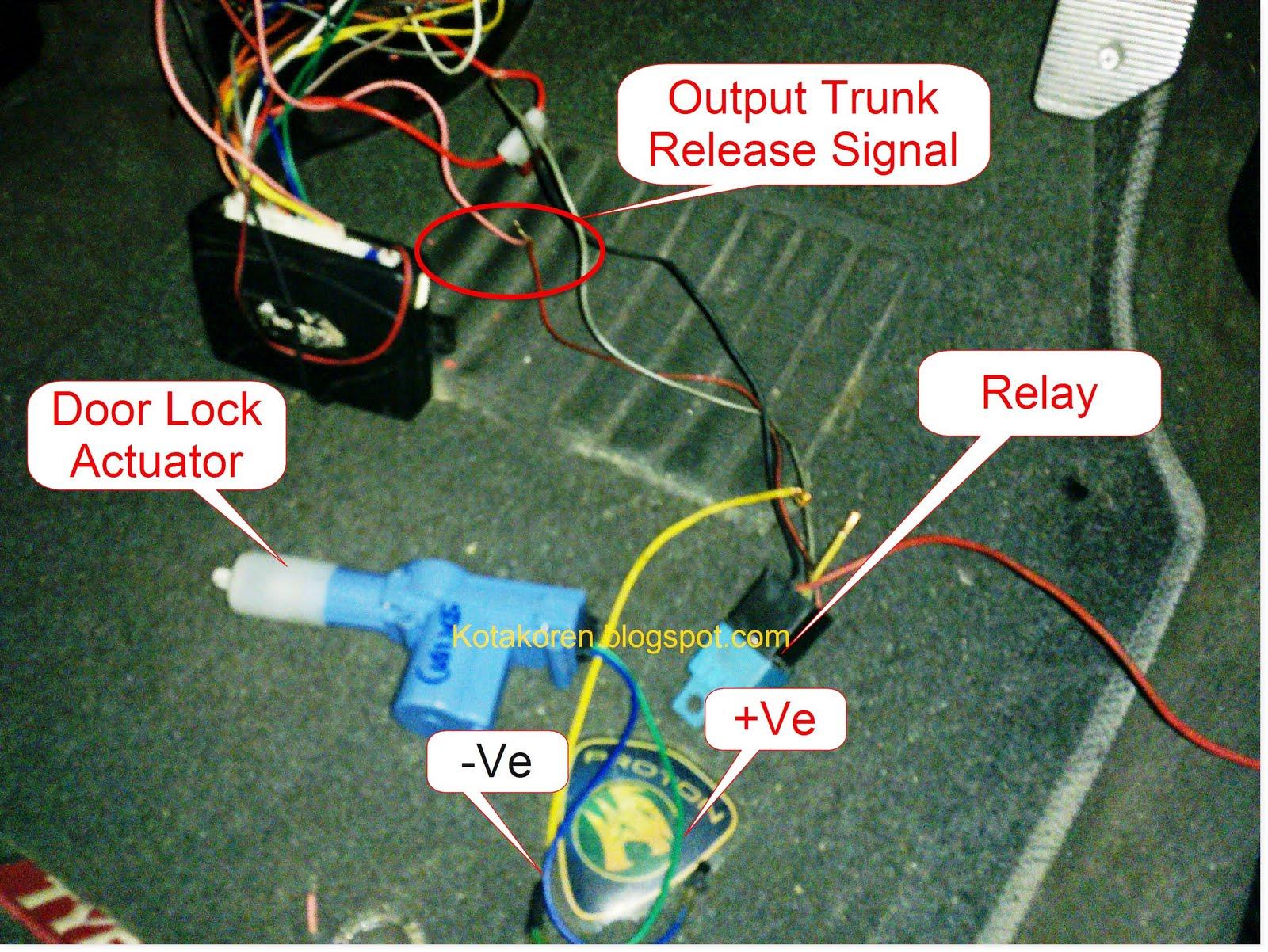 trunk release ranchangan diy kembali kotak oren rh kotakoren blogspot com 5 Pin Relay Wiring Diagram Arduino Relay Wiring