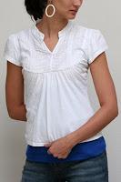 blue blush topless undershirt