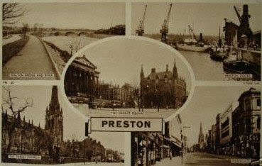 Vintage postcard of Preston