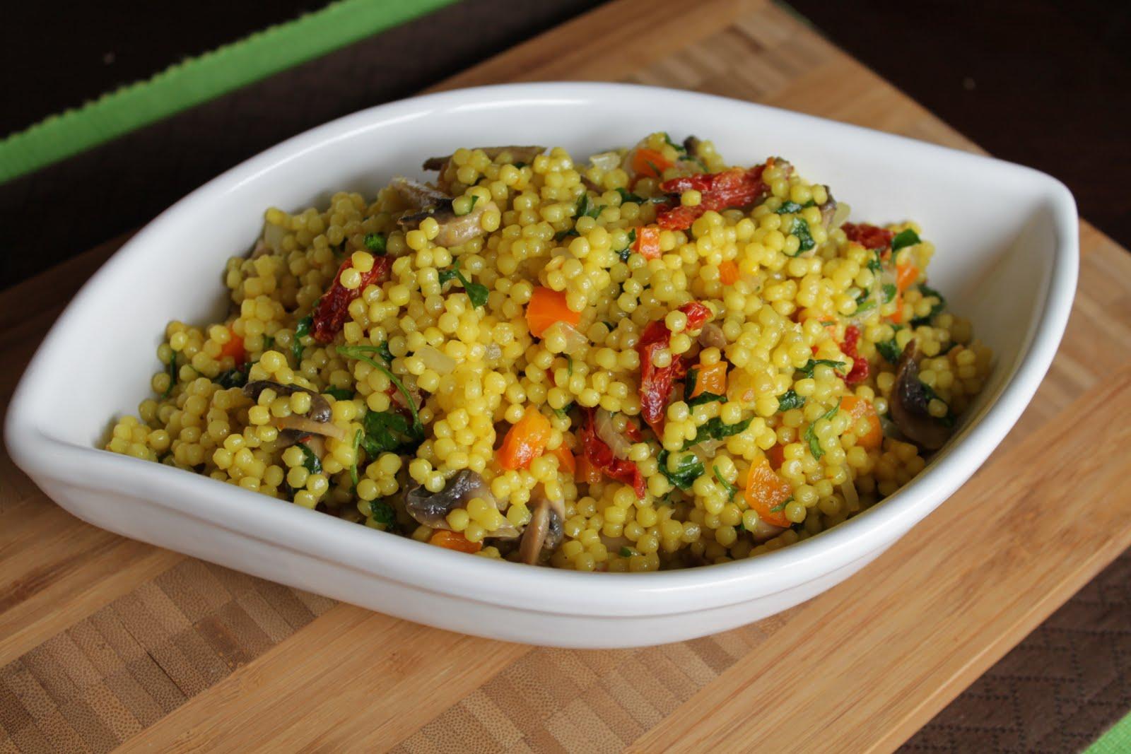 Malisa's Food Blog: Saffron Israeli Couscous Salad