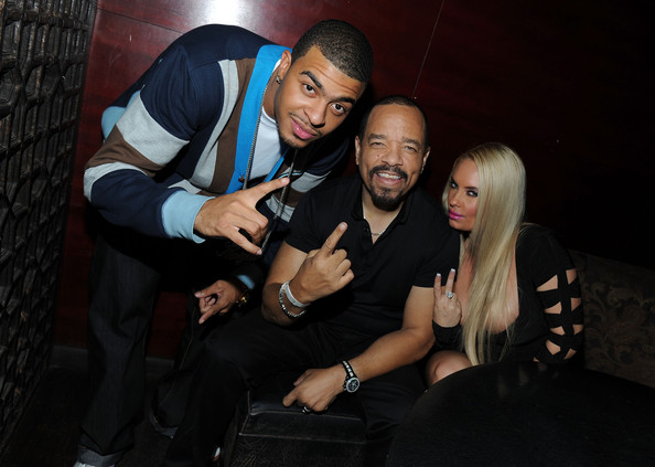 ice t and coco and kids. he can#39;t go wrong.