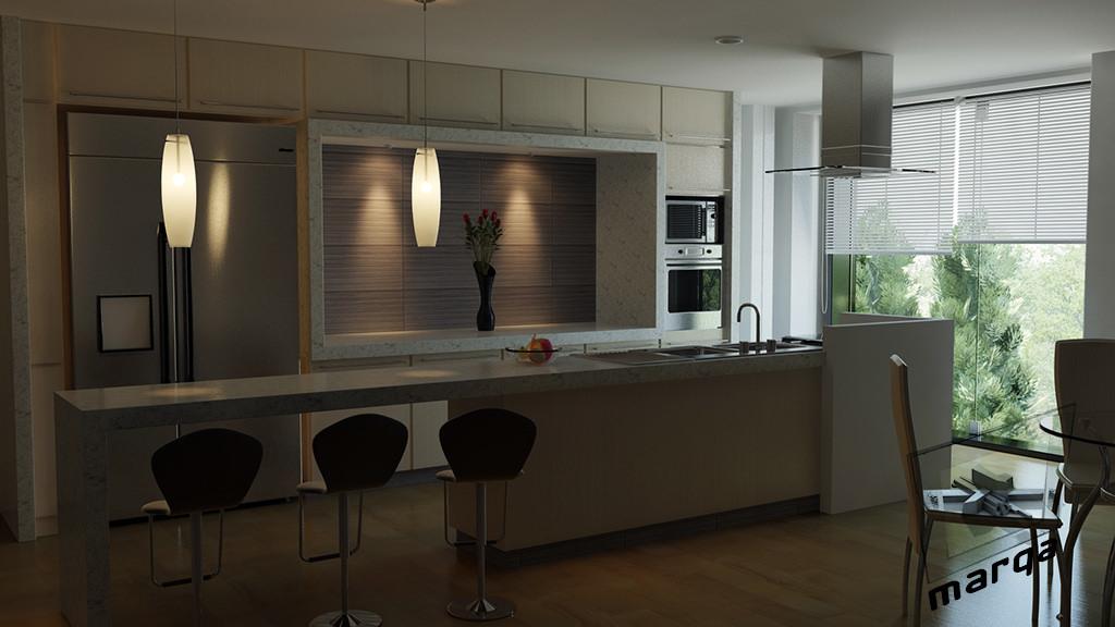 Dise o de cocina residencial marqa - Diseno de interiores para cocinas ...