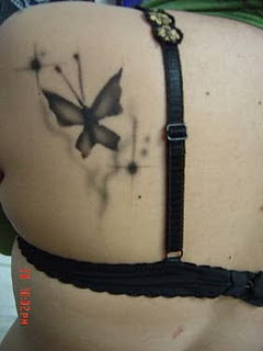 Wonderfull Butterfly Tattoos on Shoulder