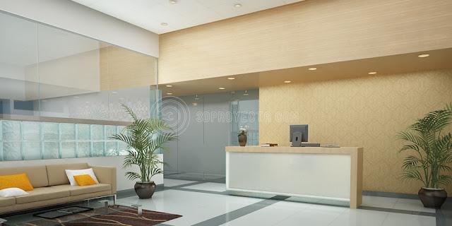 Vistas 3d lima per video 3d recorrido virtual lobby - Decoracion hall de entrada edificios ...