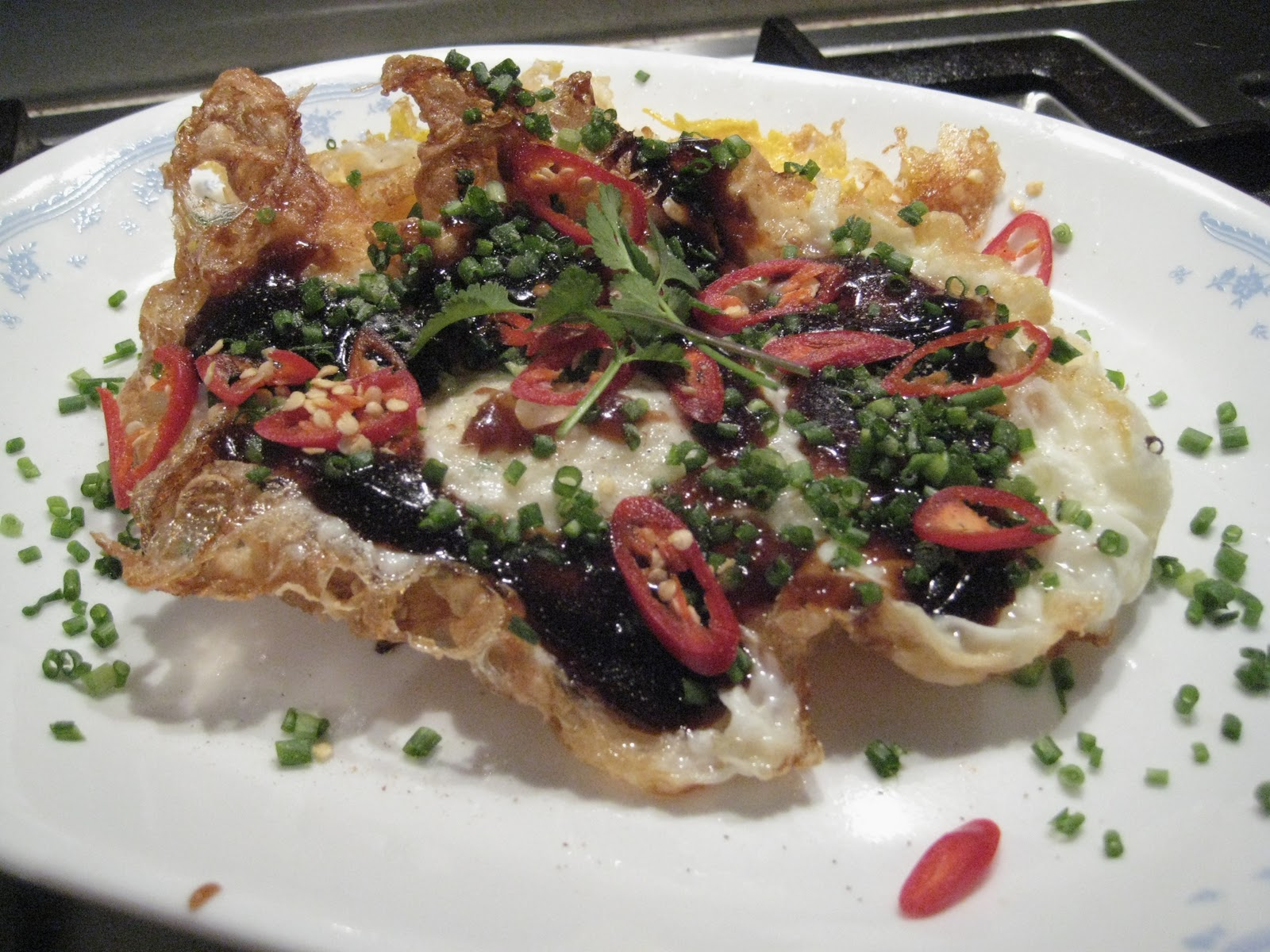 Fried Egg With Oyster Sauce & Chili Recipes — Dishmaps