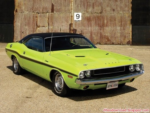 green muscle cars wallpaper