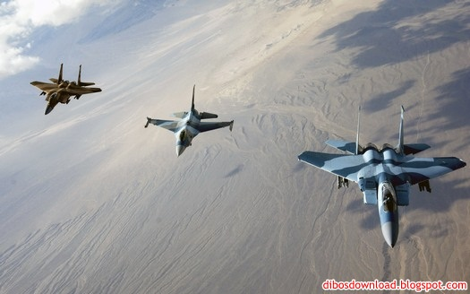 blue yellow and white F-16 fighter aircraft