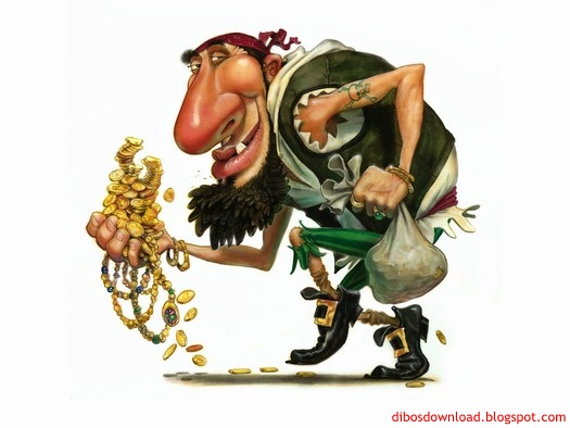 caricature gold thief