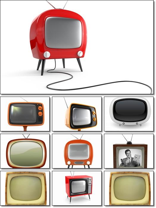 Stock TV 3D Photo