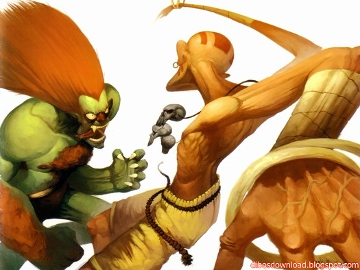 Art illustrations of Street Fighter 4