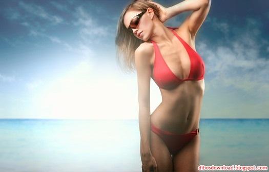 red bikini sexy girl