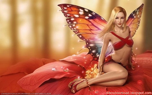 3d fantasy butterfly sexy girl