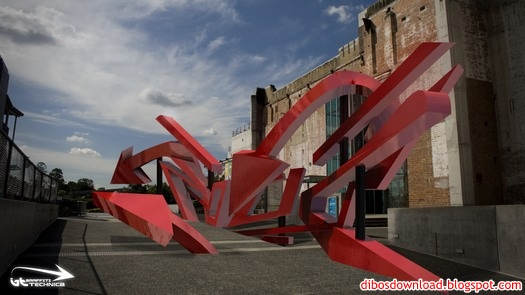 red 3d graffiti 4