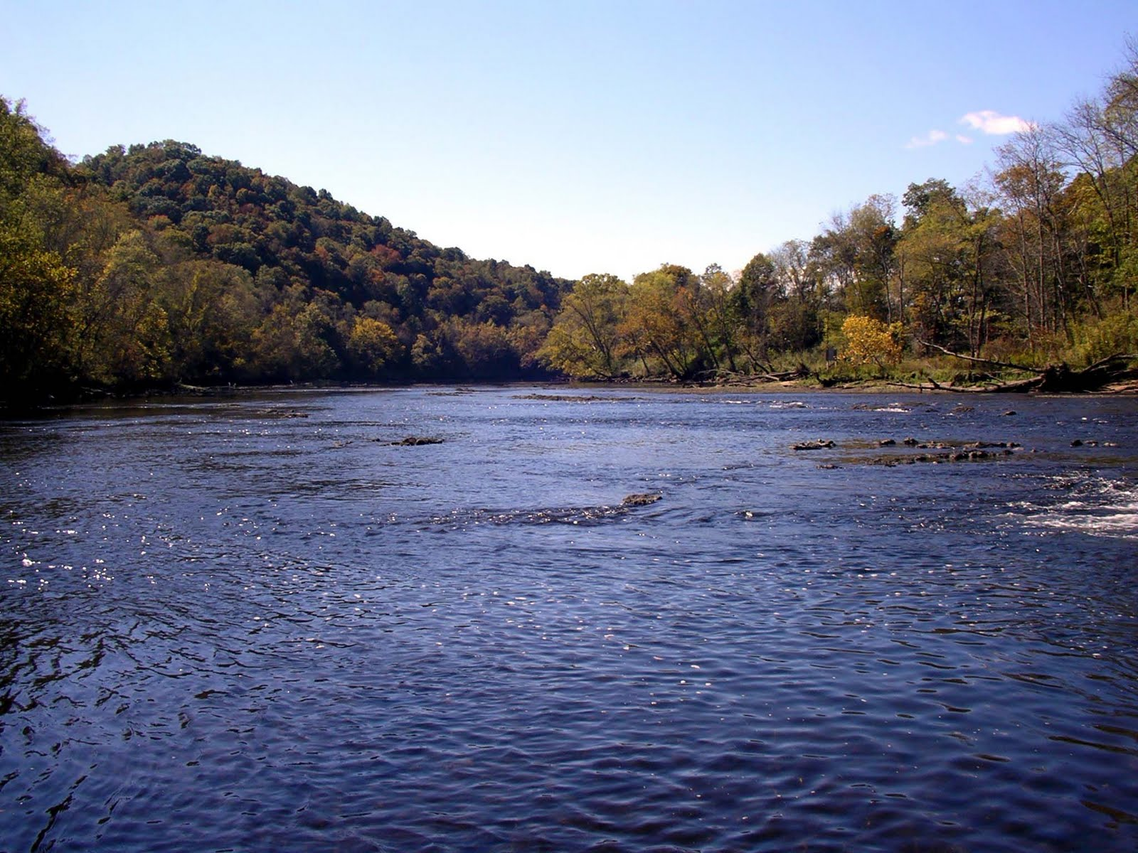 Clipper on a bicycle trout fishing access points clinch for Clinch river fishing