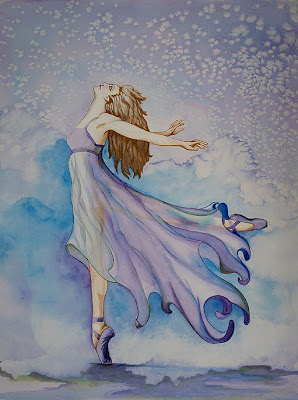 Daily Paintings By Elizabeth Blaylock: OIL PAINTING OF BALLERINA BLUES
