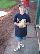 Logan Before He Threw Out the Opening Pitch at the Orem Owlz Game