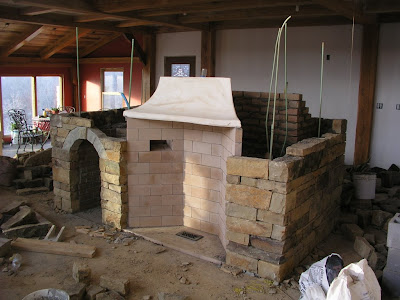 Building a timberframe home from scratch rumford for Rumford fireplace kits