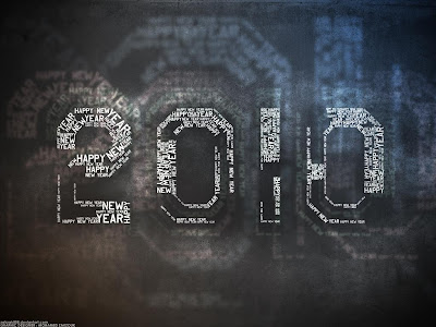 Celebration Wallpaper 1024 768 - 2010 Happy New Year Text Inside Number