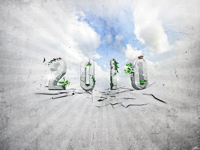 Celebration Wallpaper 1024 768 - 2010 Happy New Year 3D Sky Light Burst Effect