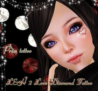 L&H Face Diamond Tattoo - NEW Product