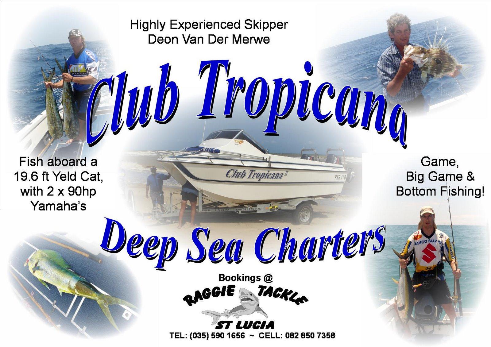 Raggie tackle st lucia deep sea fishing charters st lucia for Deep sea fishing st lucia