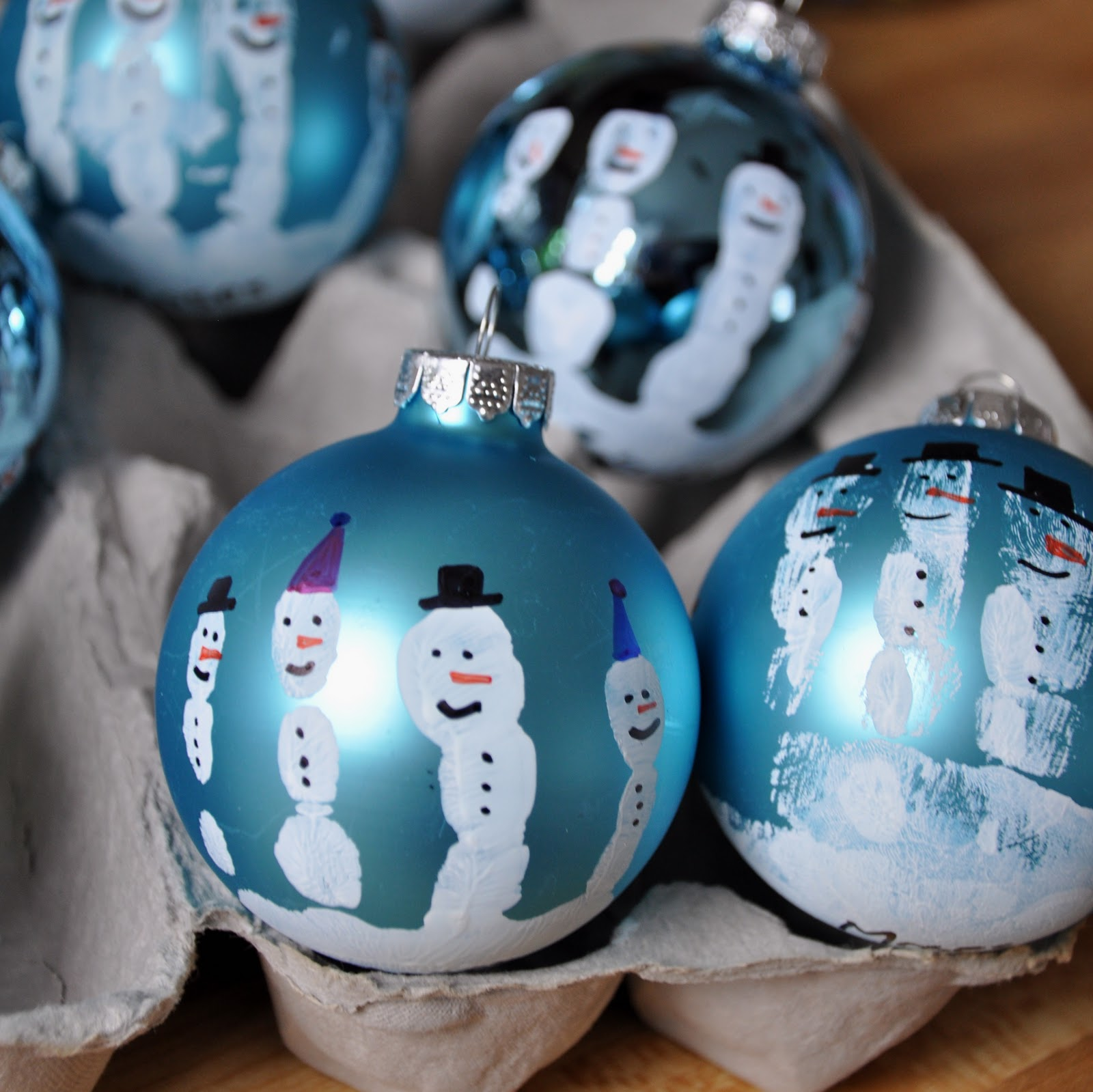 Handprint Christmas Craft Ideas Part - 37: Make These Now! Handprint Snowman Ornament. :)