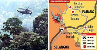 Tinjau lokasi: helikopter nuri berlegar di kawasan pesawat