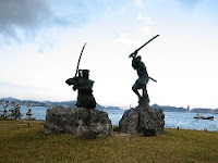 Statua di Miyamoto Musashi contro Sasaki Kojiro