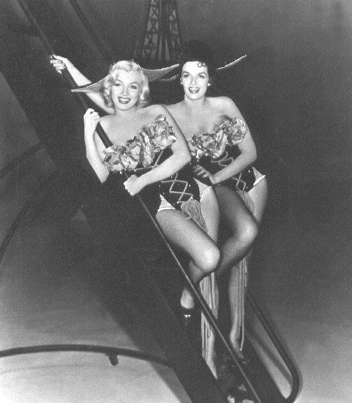 Jane Russell y Monroe