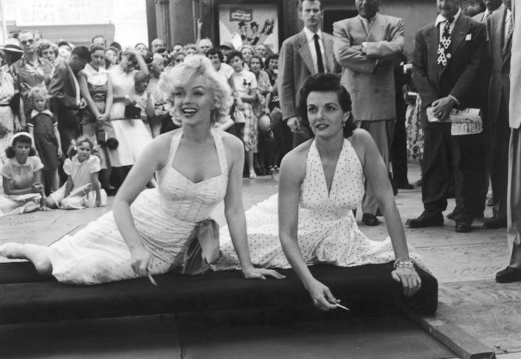 Marilyn y Jane Russell
