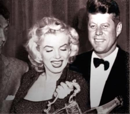 Dean Martin, Marilyn Monroe y John .F.Kennedy (JFK)