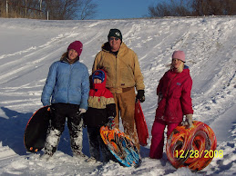 Sledding with the grandkids