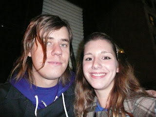 Me and Michael Guy Chislett, guitarist for The Academy Is..., after their show at the Roxy in Boston.