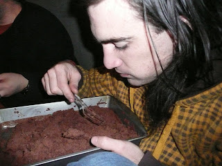 Ryan Guerra, guitarist for Kiros, made birthday brownies for Eli.