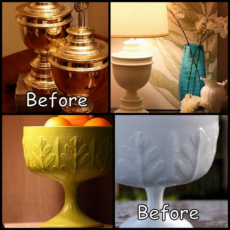 Dollar store crafter spray painted makeovers for Spray paint makeovers