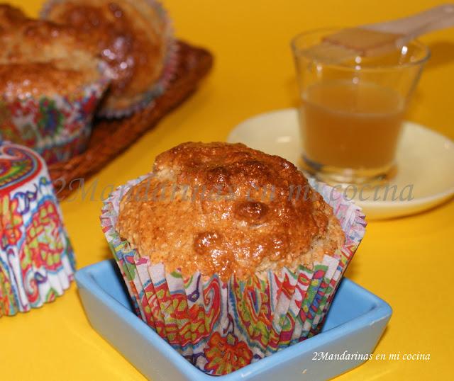 Muffins de salvado de avena con limón y miel